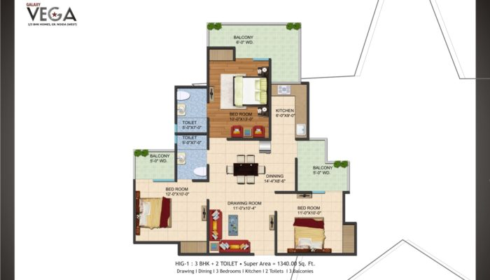 Galaxy Vega – 2/3 BHK Homes at Greater Noida (West)